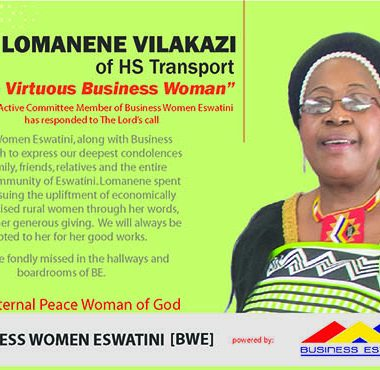 Tribute to Mrs. Dudu Cynthia Lomanene Vilakazi of HS Transport – A proud member of Business Eswatini